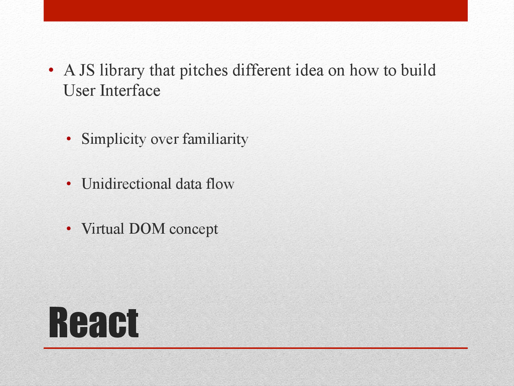 React • A JS library that pitches different id...