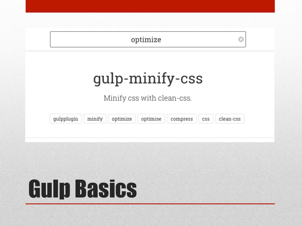 Gulp Basics