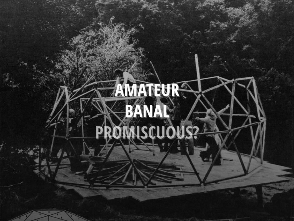AMATEUR BANAL PROMISCUOUS?