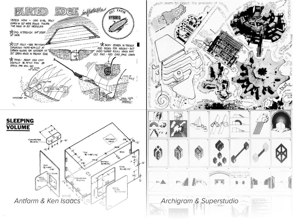 Antfarm & Ken Isaacs Archigram & Superstudio