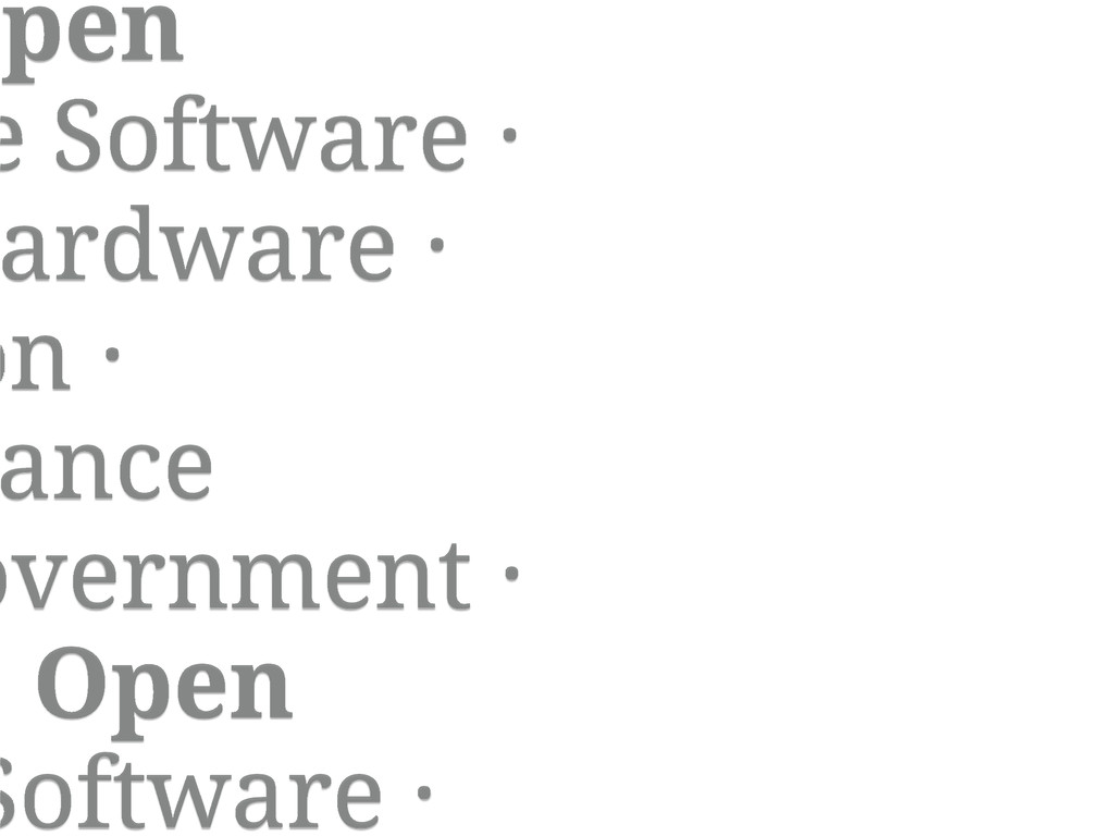 Open e Software · ardware · on · ance overnment...