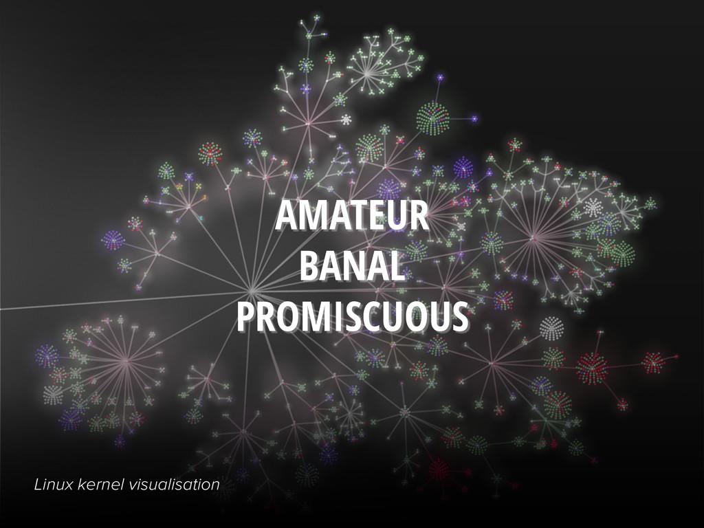 AMATEUR BANAL PROMISCUOUS Linux kernel visualis...