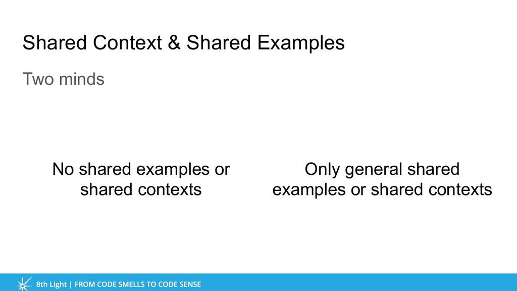 Shared Context & Shared Examples Two minds Only...