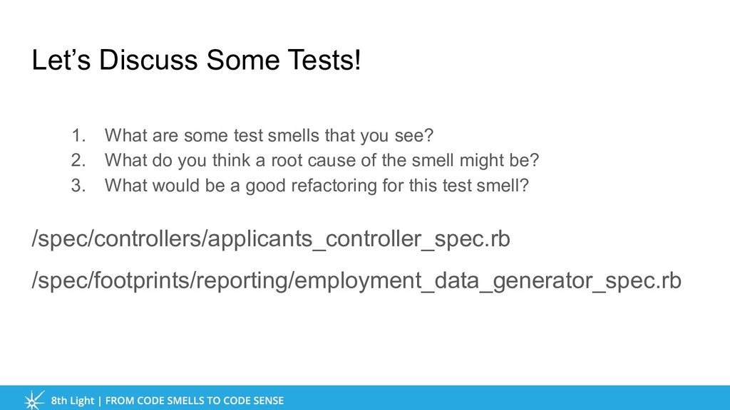 Let's Discuss Some Tests! 1. What are some test...