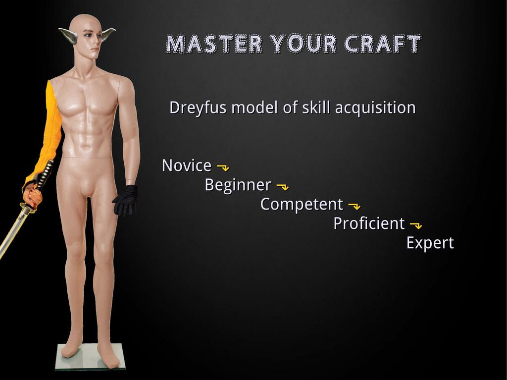MASTER YOUR CRAFT MASTER YOUR CRAFT Dreyfus mod...
