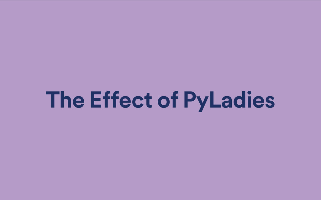 The Effect of PyLadies