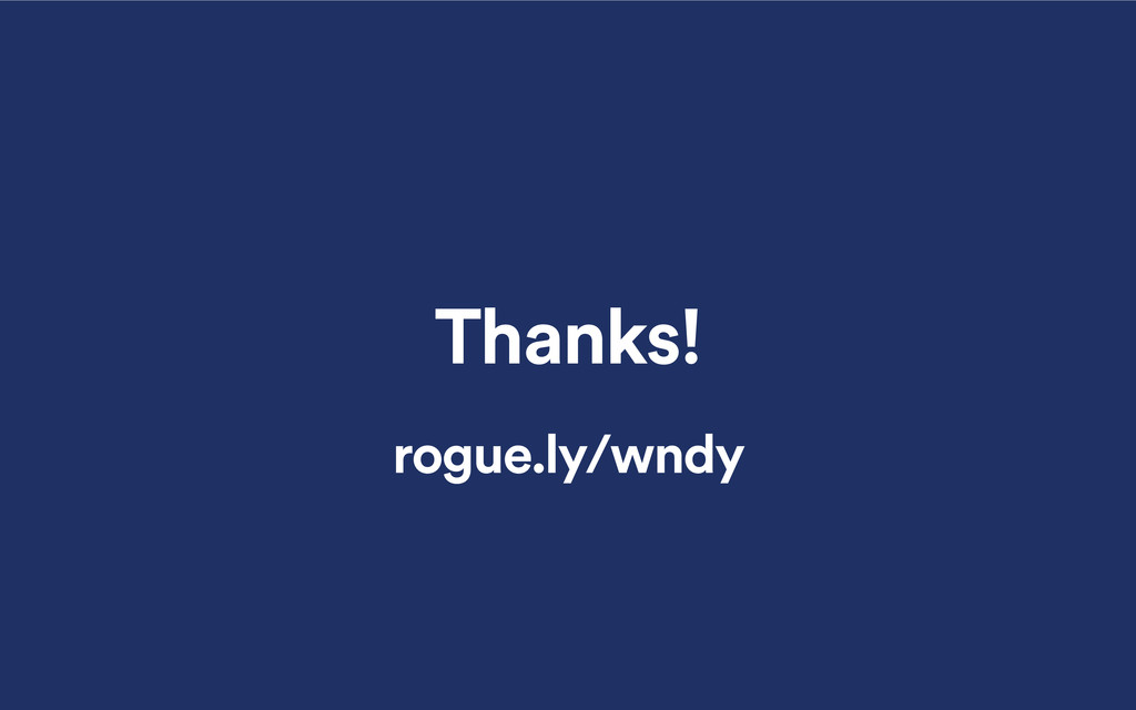 Thanks! rogue.ly/wndy