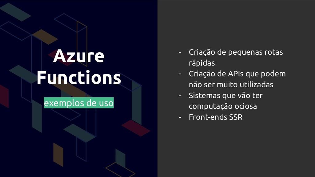 Azure Functions exemplos de uso - Criação de pe...