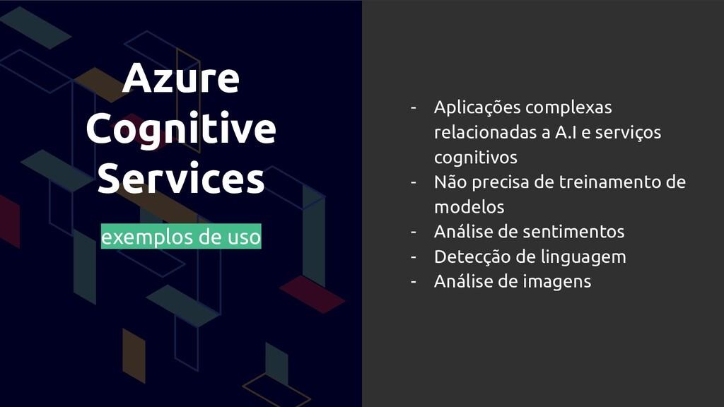 Azure Cognitive Services exemplos de uso - Apli...
