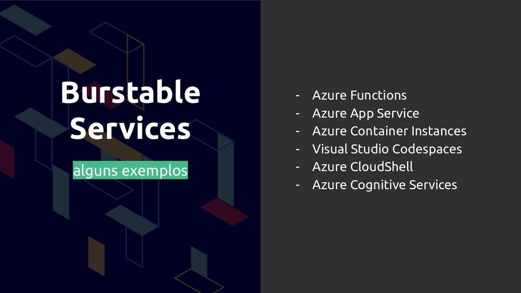 Burstable Services alguns exemplos - Azure Func...