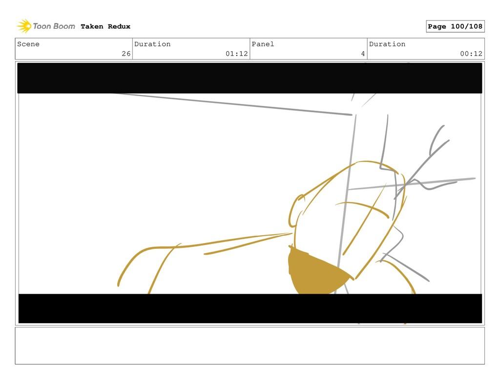 Scene 26 Duration 01:12 Panel 4 Duration 00:12 ...