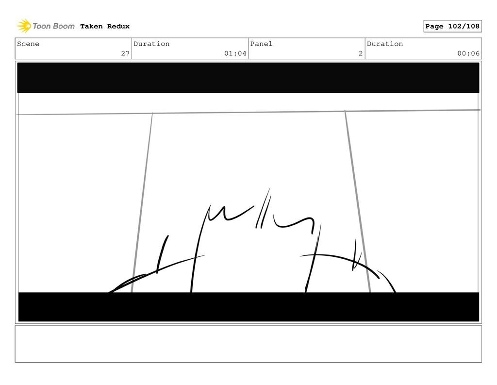 Scene 27 Duration 01:04 Panel 2 Duration 00:06 ...