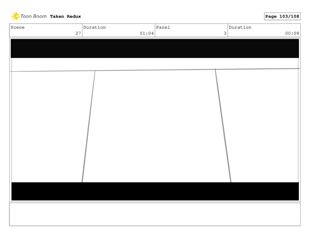 Scene 27 Duration 01:04 Panel 3 Duration 00:08 ...