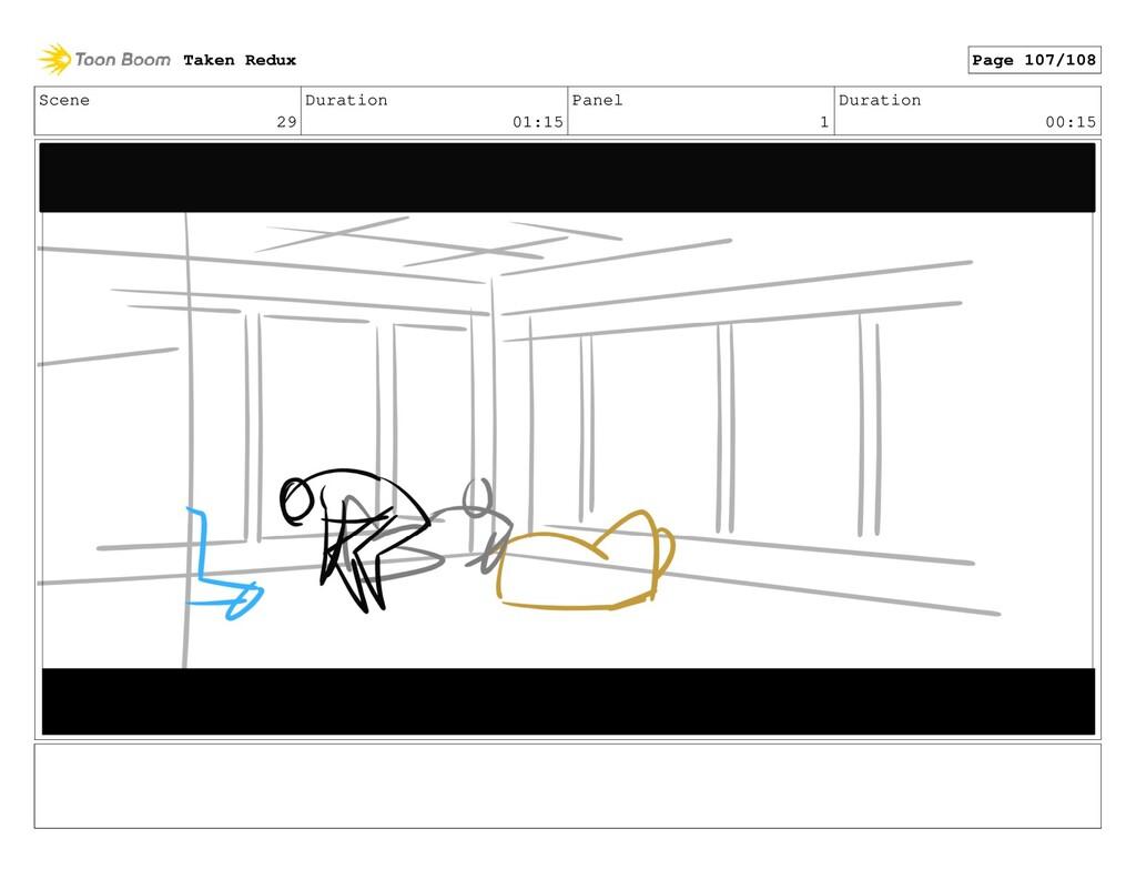 Scene 29 Duration 01:15 Panel 1 Duration 00:15 ...