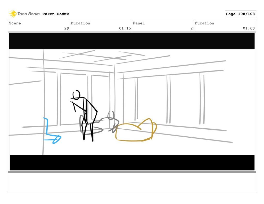 Scene 29 Duration 01:15 Panel 2 Duration 01:00 ...