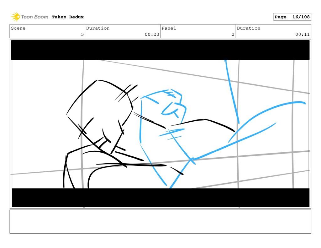 Scene 5 Duration 00:23 Panel 2 Duration 00:11 T...