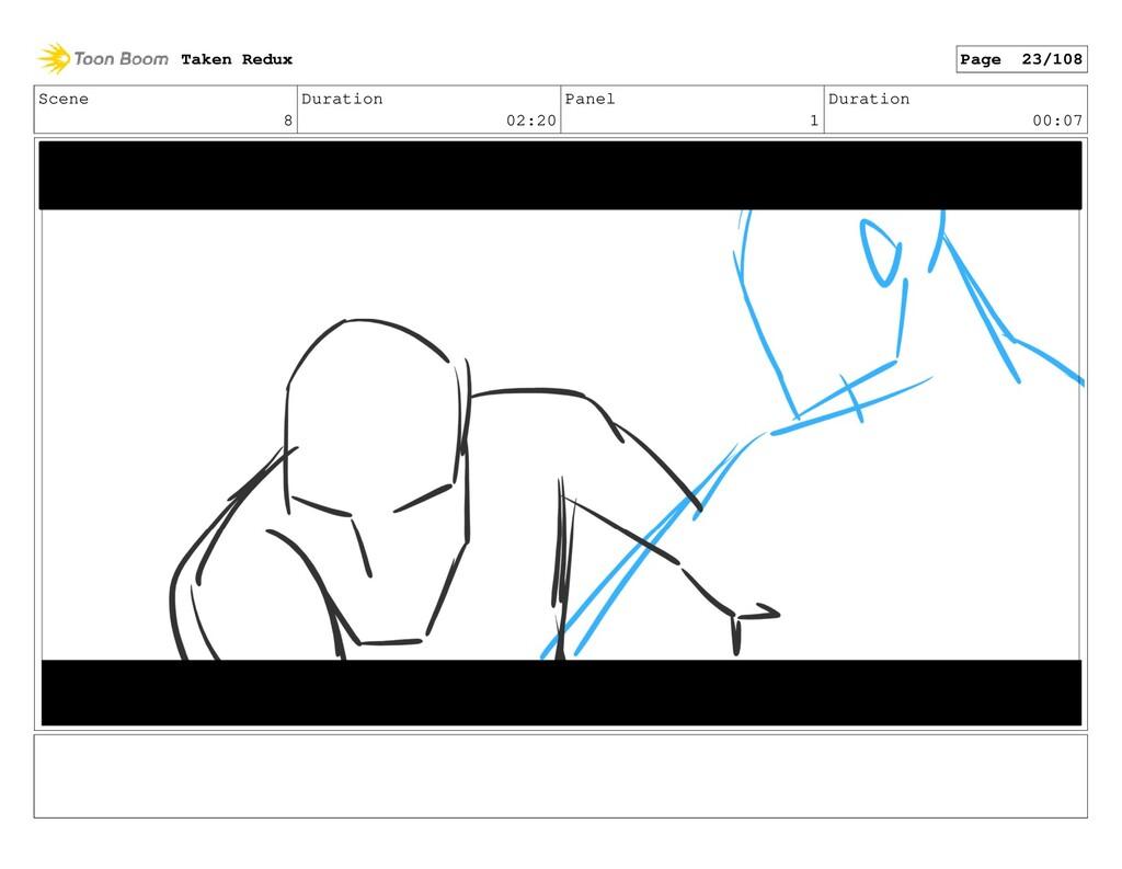 Scene 8 Duration 02:20 Panel 1 Duration 00:07 T...