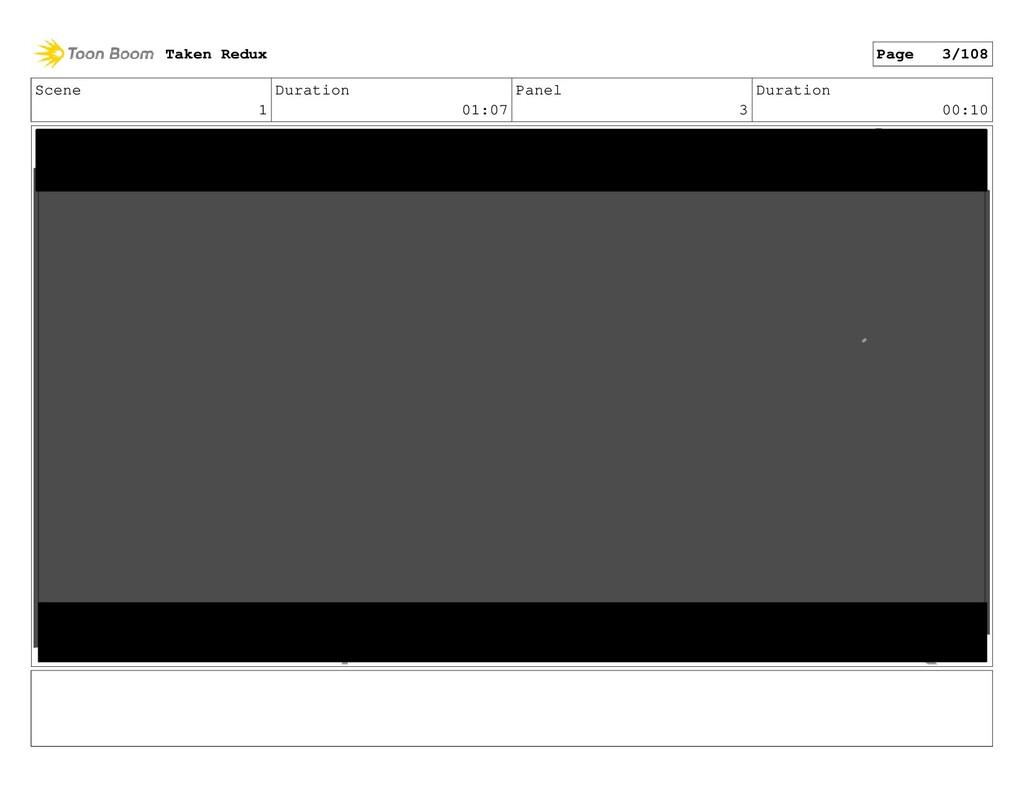 Scene 1 Duration 01:07 Panel 3 Duration 00:10 T...