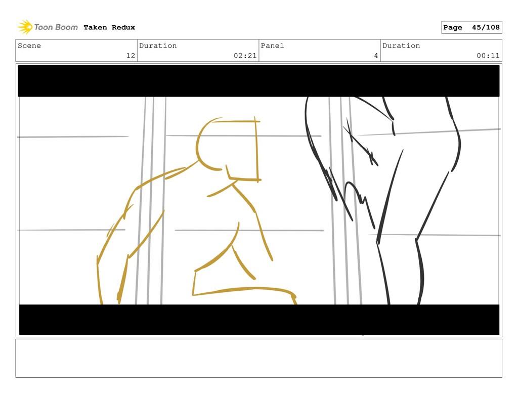 Scene 12 Duration 02:21 Panel 4 Duration 00:11 ...