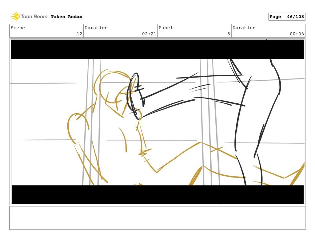Scene 12 Duration 02:21 Panel 5 Duration 00:08 ...