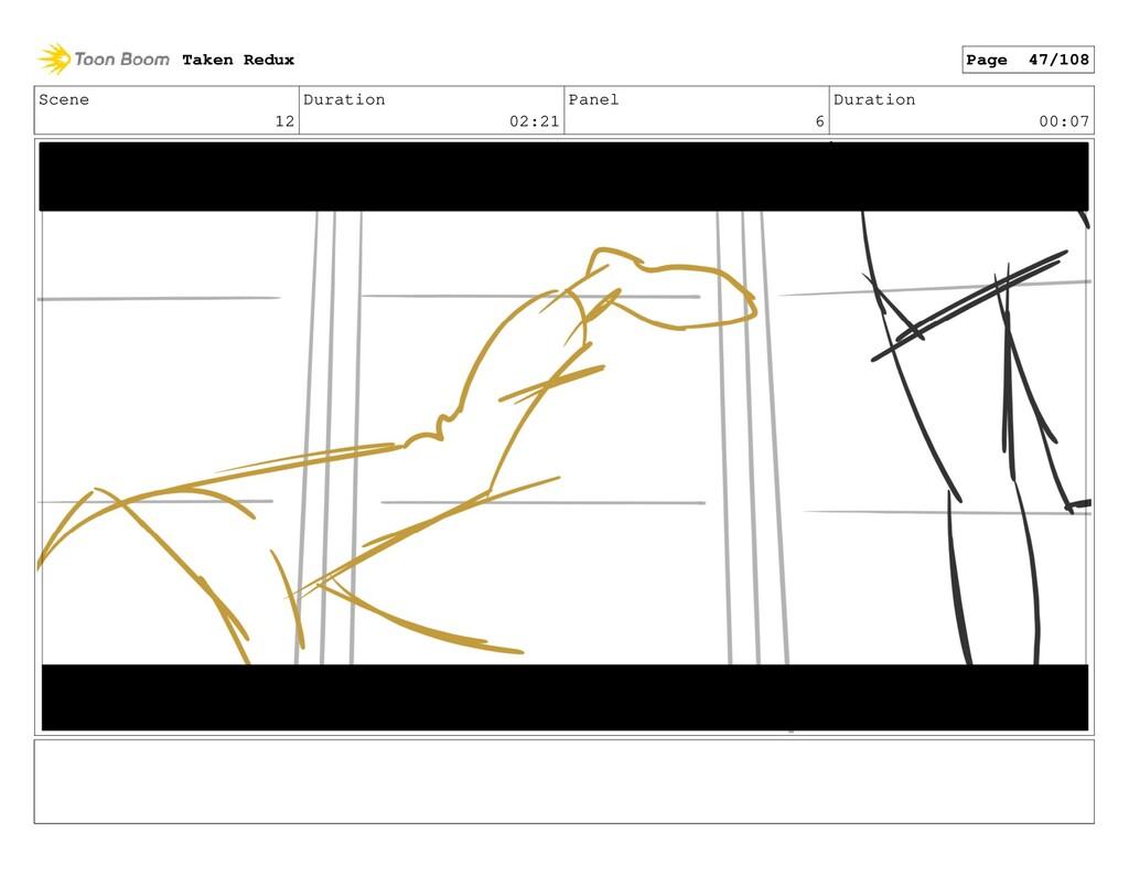Scene 12 Duration 02:21 Panel 6 Duration 00:07 ...