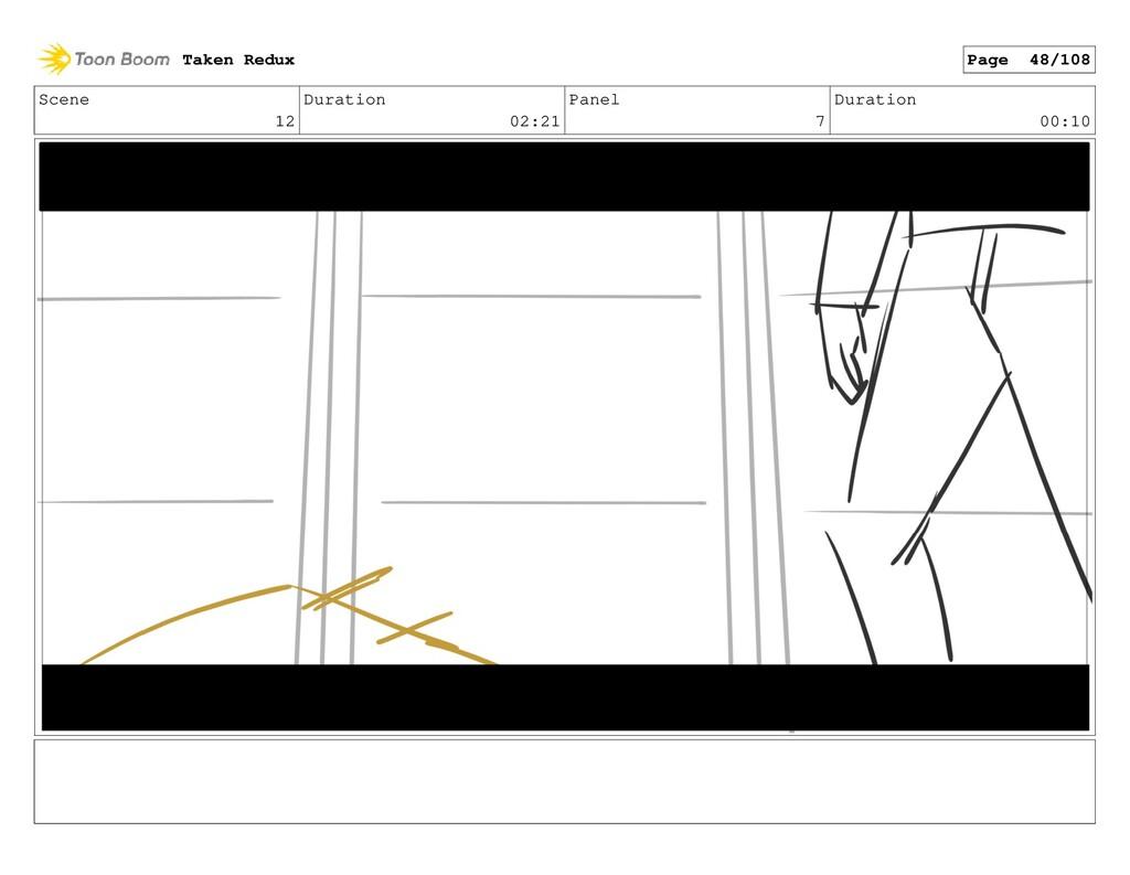 Scene 12 Duration 02:21 Panel 7 Duration 00:10 ...
