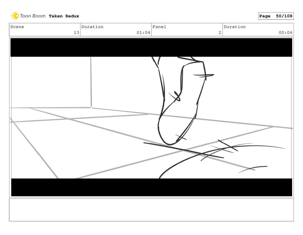 Scene 13 Duration 01:04 Panel 2 Duration 00:06 ...
