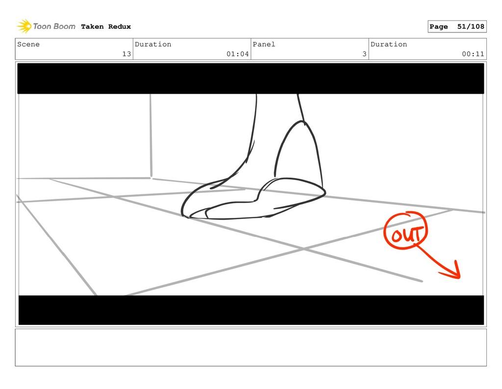 Scene 13 Duration 01:04 Panel 3 Duration 00:11 ...