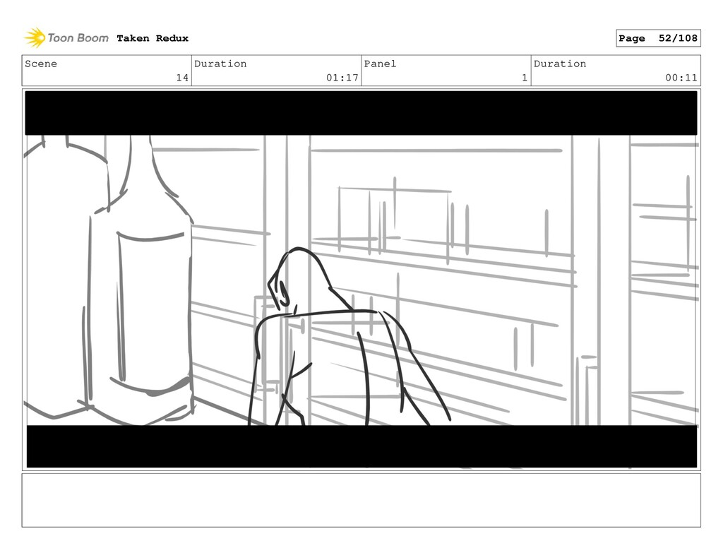Scene 14 Duration 01:17 Panel 1 Duration 00:11 ...