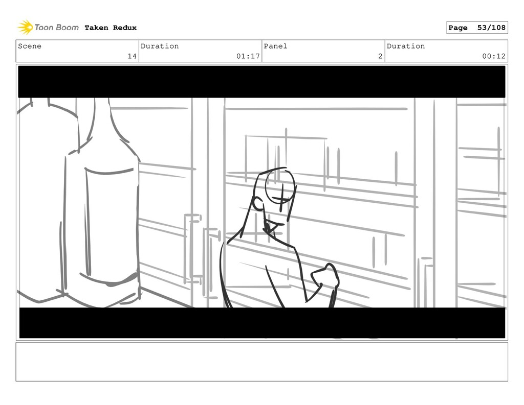 Scene 14 Duration 01:17 Panel 2 Duration 00:12 ...