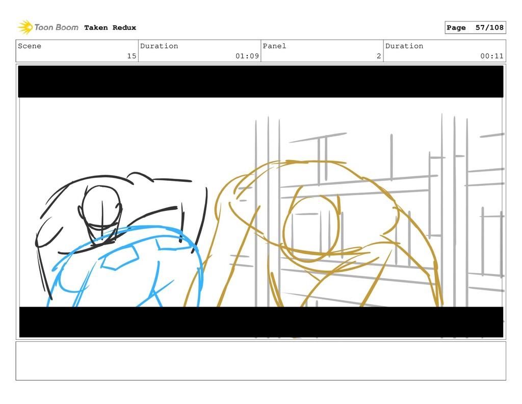 Scene 15 Duration 01:09 Panel 2 Duration 00:11 ...
