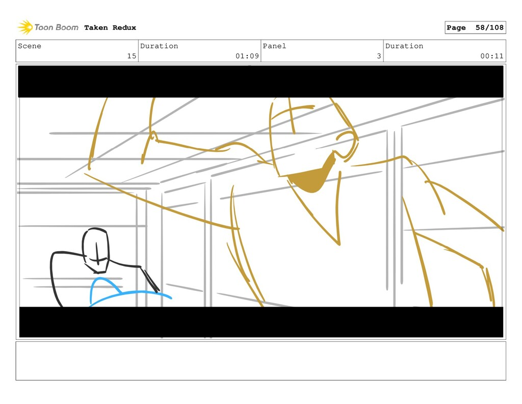 Scene 15 Duration 01:09 Panel 3 Duration 00:11 ...