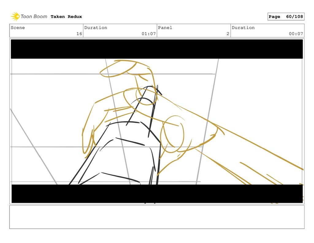 Scene 16 Duration 01:07 Panel 2 Duration 00:07 ...