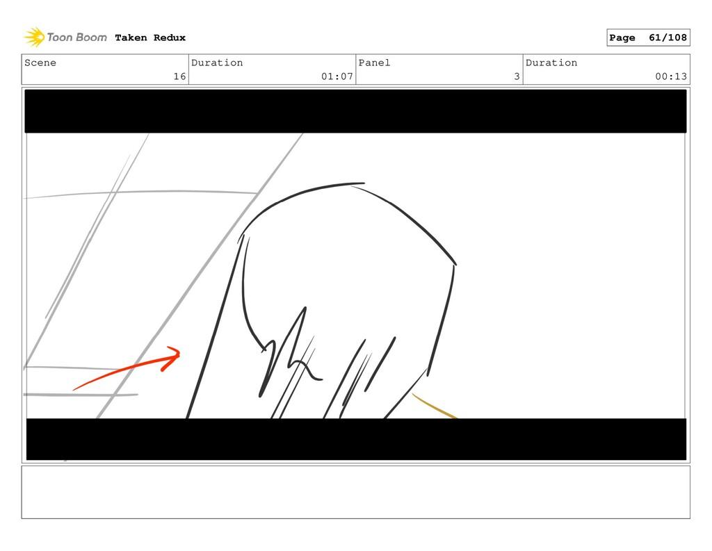Scene 16 Duration 01:07 Panel 3 Duration 00:13 ...