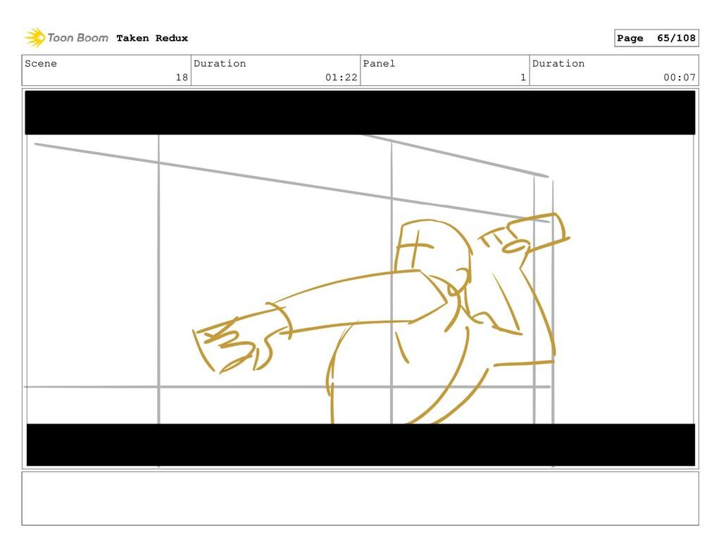 Scene 18 Duration 01:22 Panel 1 Duration 00:07 ...