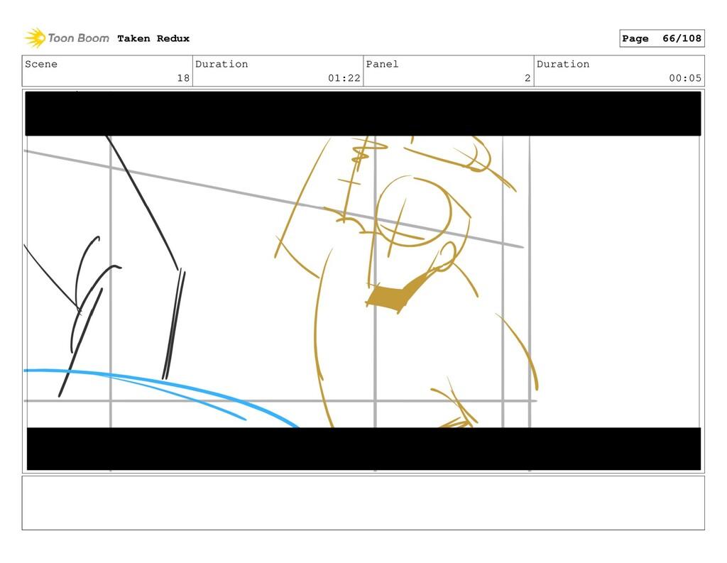 Scene 18 Duration 01:22 Panel 2 Duration 00:05 ...