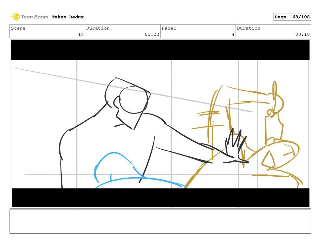 Scene 18 Duration 01:22 Panel 4 Duration 00:10 ...