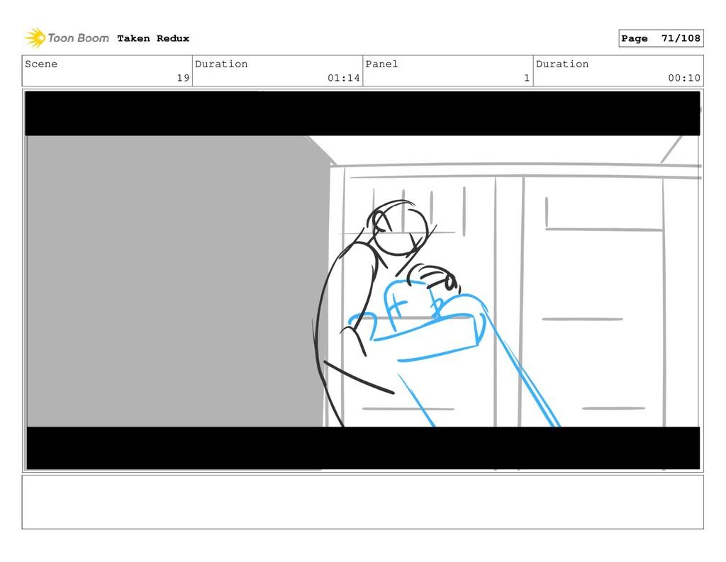 Scene 19 Duration 01:14 Panel 1 Duration 00:10 ...