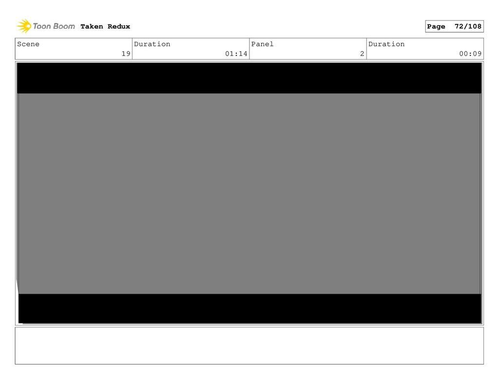 Scene 19 Duration 01:14 Panel 2 Duration 00:09 ...