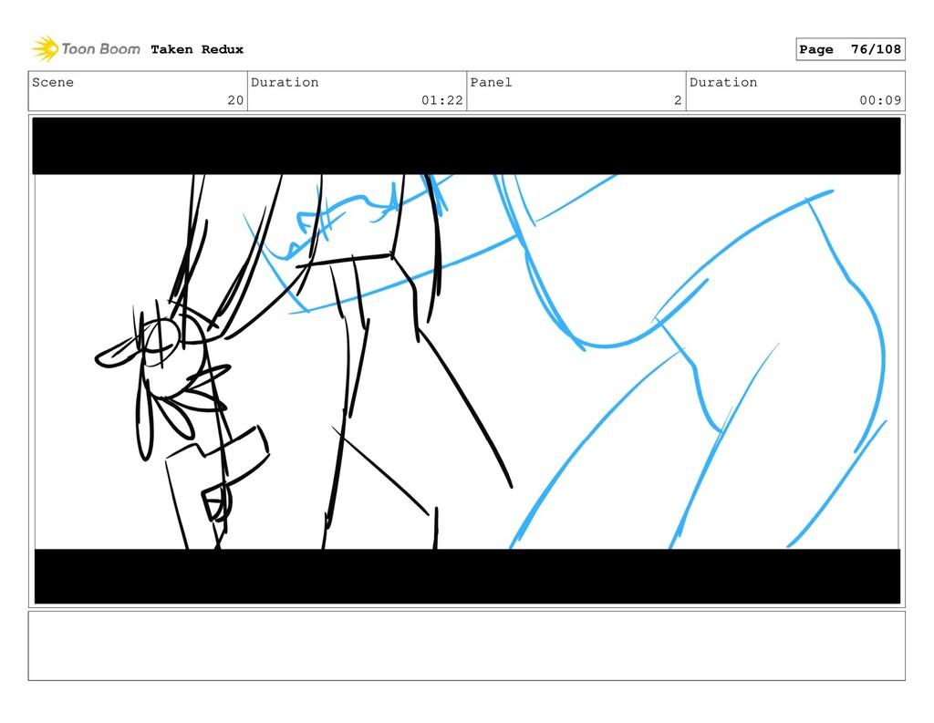 Scene 20 Duration 01:22 Panel 2 Duration 00:09 ...