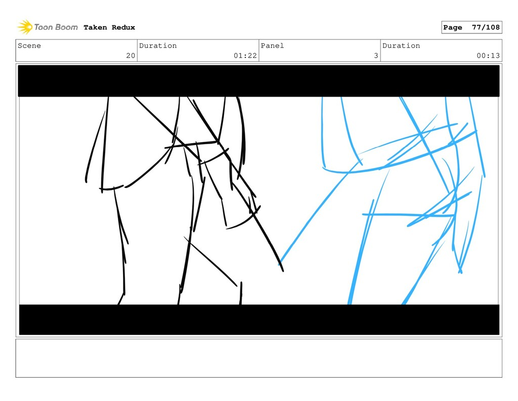 Scene 20 Duration 01:22 Panel 3 Duration 00:13 ...