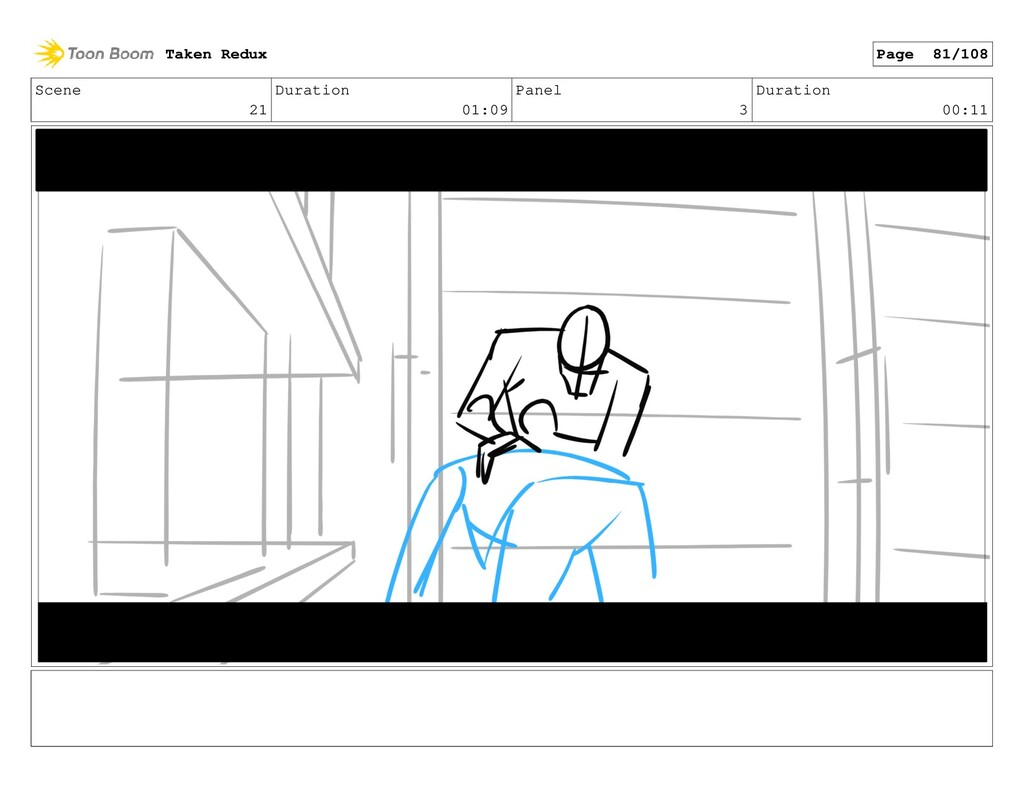 Scene 21 Duration 01:09 Panel 3 Duration 00:11 ...