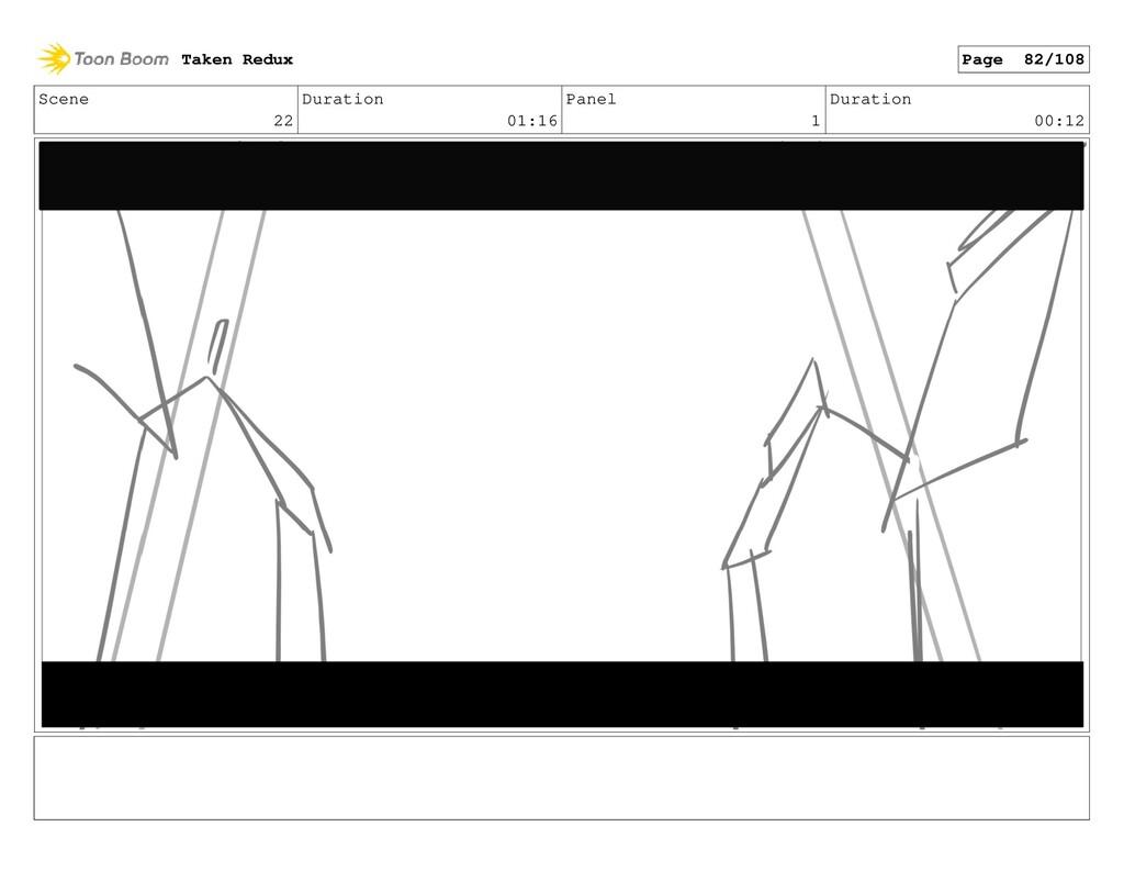 Scene 22 Duration 01:16 Panel 1 Duration 00:12 ...