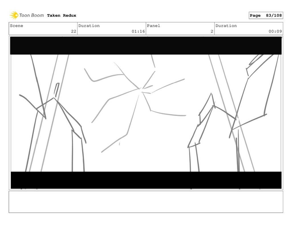 Scene 22 Duration 01:16 Panel 2 Duration 00:09 ...