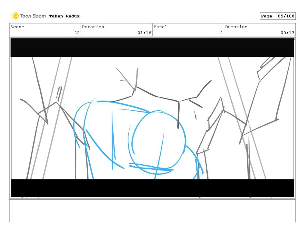 Scene 22 Duration 01:16 Panel 4 Duration 00:13 ...