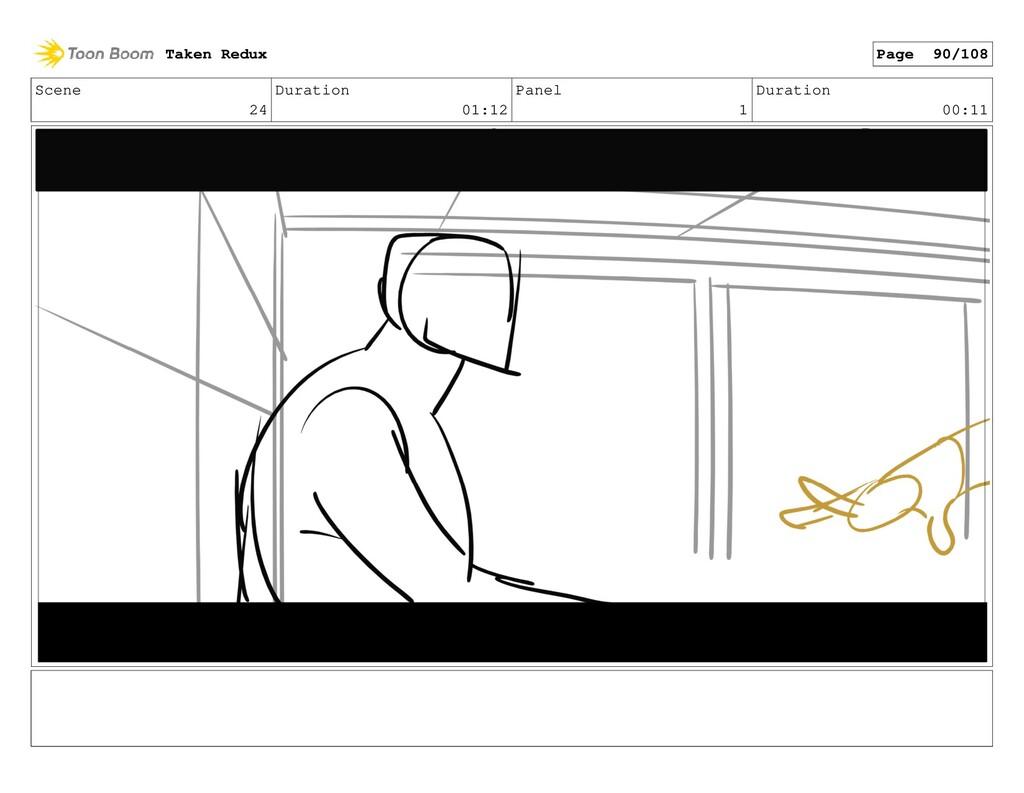 Scene 24 Duration 01:12 Panel 1 Duration 00:11 ...