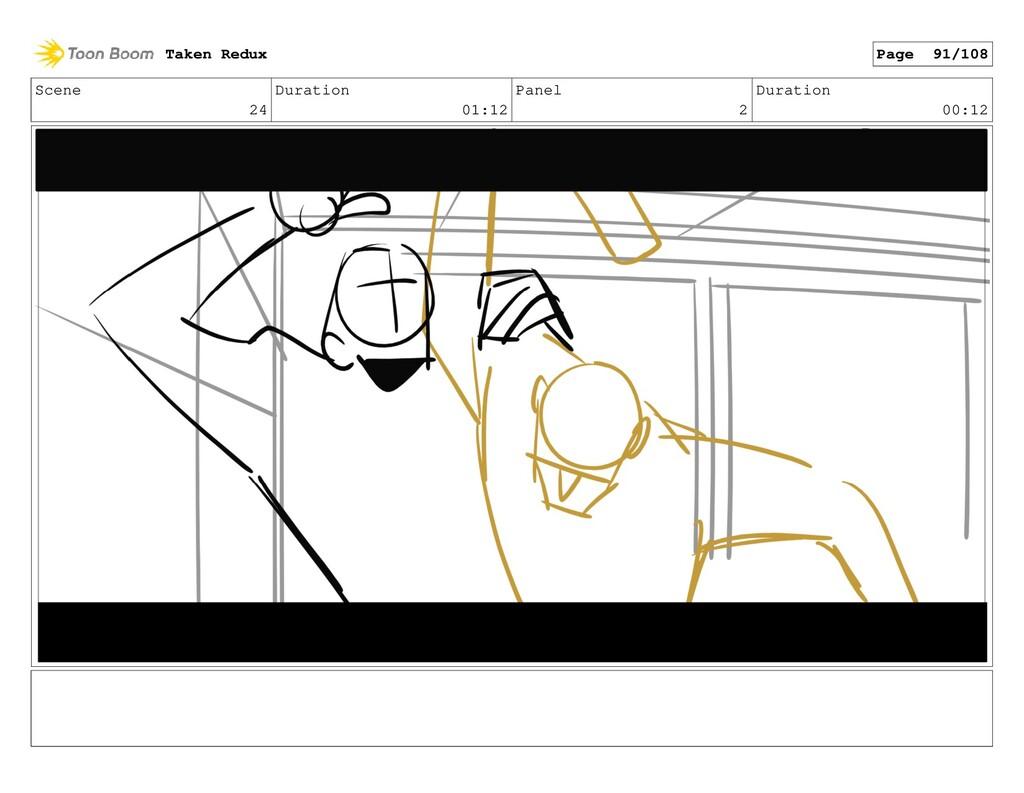 Scene 24 Duration 01:12 Panel 2 Duration 00:12 ...