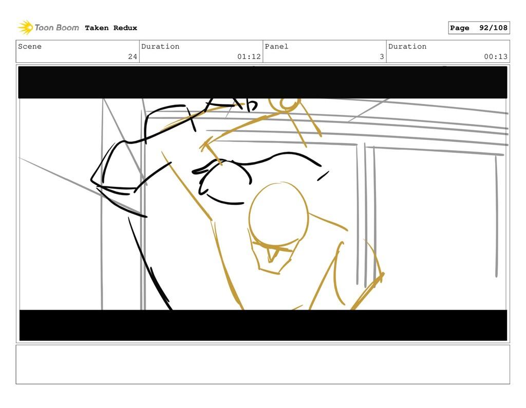 Scene 24 Duration 01:12 Panel 3 Duration 00:13 ...