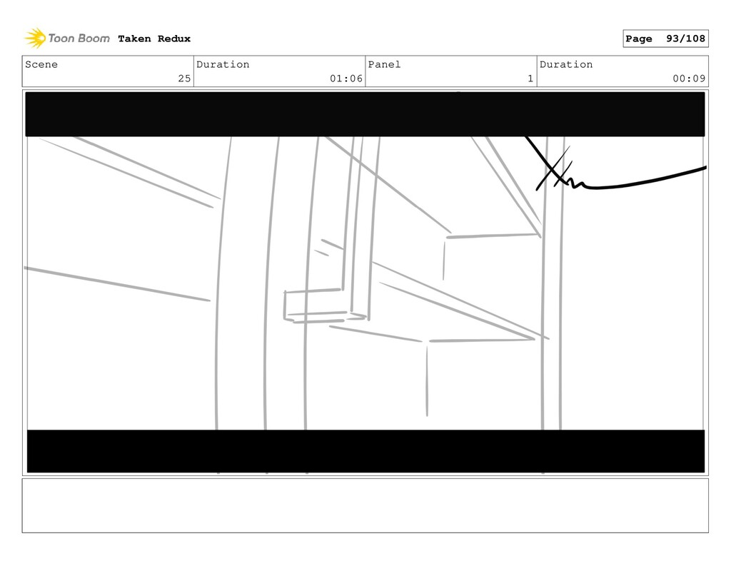Scene 25 Duration 01:06 Panel 1 Duration 00:09 ...