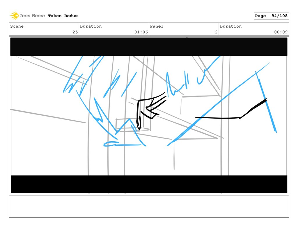 Scene 25 Duration 01:06 Panel 2 Duration 00:09 ...